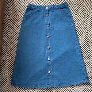 Velvet Heart button front skirt